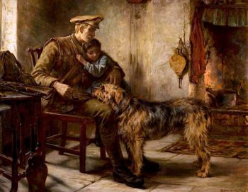 Home on Leave from France | Robert Morley | oil painting