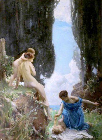 Joyous Day   Harry Watson   oil painting