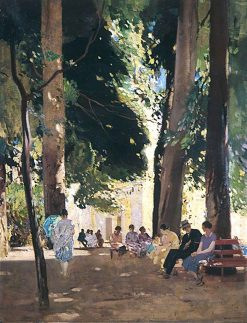 The Gardens at Riva | Harry Watson | oil painting