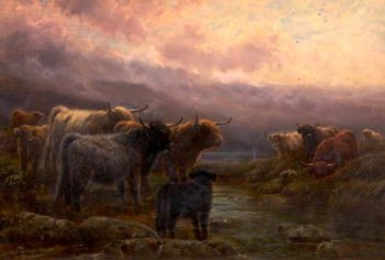 Evening in the Highlands | Robert Watson | oil painting