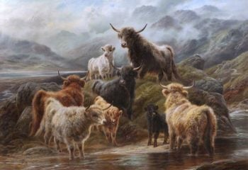 Highland Cattle | Robert Watson | oil painting
