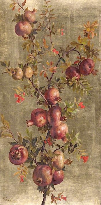 Pomegranates and Flowers | William Hughes | oil painting
