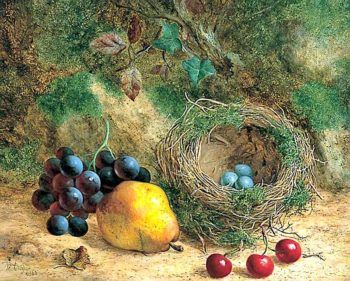 Still Life with Birds Nest and Fruit | William Hughes | oil painting