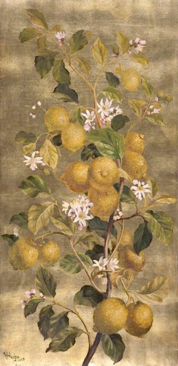 Lemons and Flowers | William Hughes | oil painting