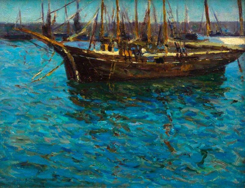 Fishing Boats in St Ives | Mary McCrossan | oil painting