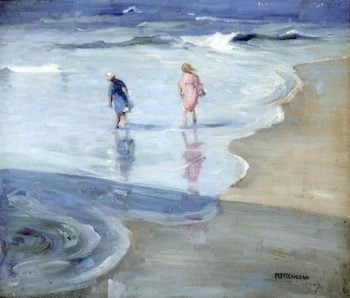 Two Girls Paddling | Mary McCrossan | oil painting