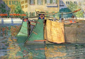 Umbrellas and Barges