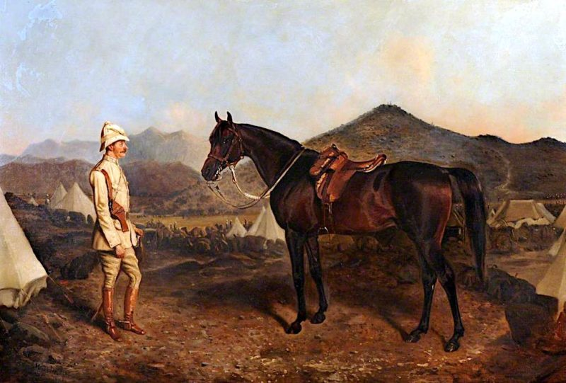 An Officer with His Charger | John Alfred Wheeler | oil painting