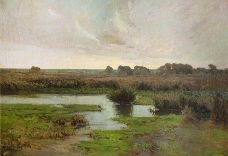 Marshland   Frederick Milner   oil painting