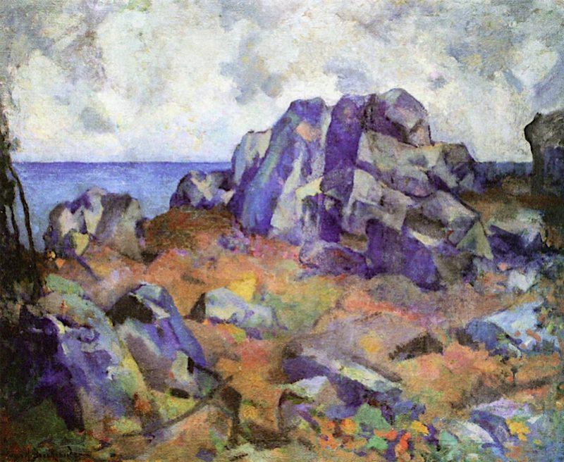 The Cape Ann Shore   Hugh Henry Breckenridge   oil painting