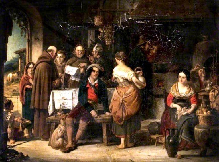 An Italian Hostelry   Robert McInnes   oil painting