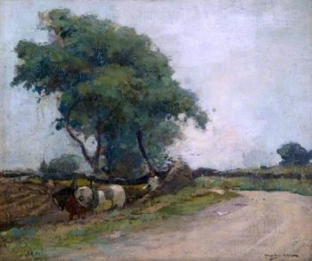 Ploughing at Crail | Archibald Kay | oil painting