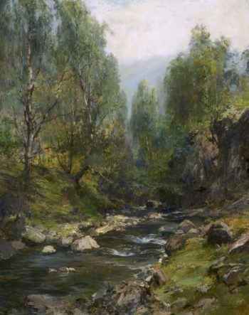 The Glen of Mossy Waters | Archibald Kay | oil painting