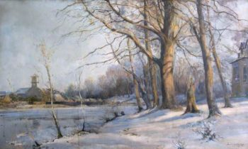 Winter Landscape | Archibald Kay | oil painting