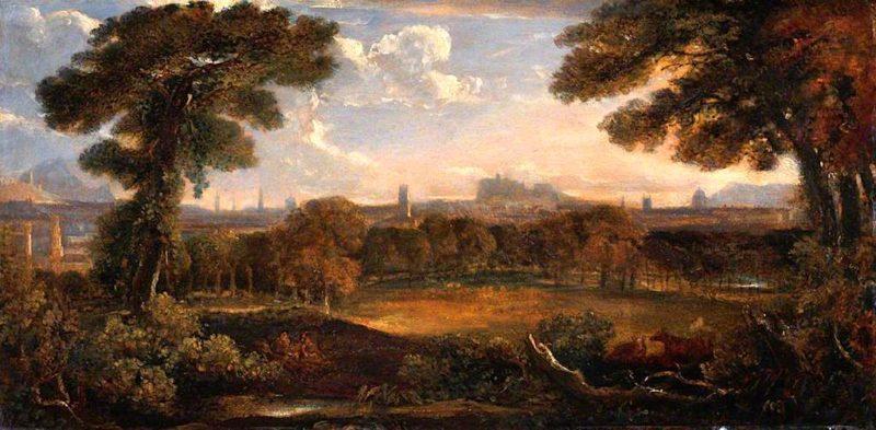 Edinburgh from Inverleith   John Thomson   oil painting