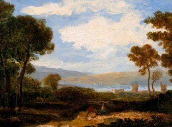 Landscape with Castle | John Thomson | oil painting