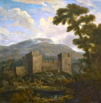 Landscape with Hailes Castle and Traprain Law | John Thomson | oil painting