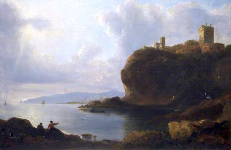 Ravenscraig Castle | John Thomson | oil painting