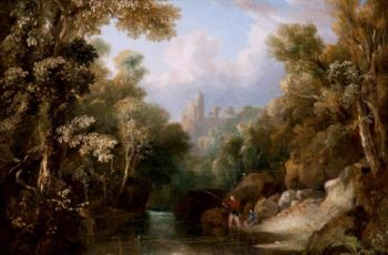 Rosslyn Castle from the Glen | John Thomson | oil painting