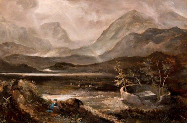 The Martyrs Tombs in the Moss of Lochinkett | John Thomson | oil painting