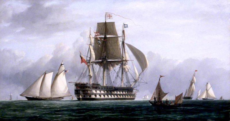 HMS Vengeance at Spithead