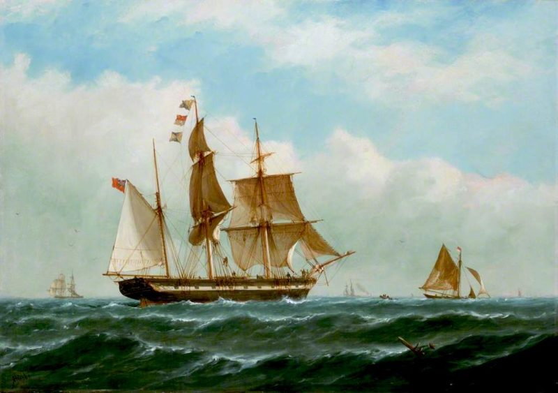 The Barque Peerless | Richard Henry Nibbs | oil painting