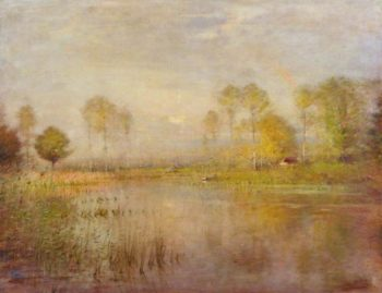Sunshine and River | Ernest Parton | oil painting