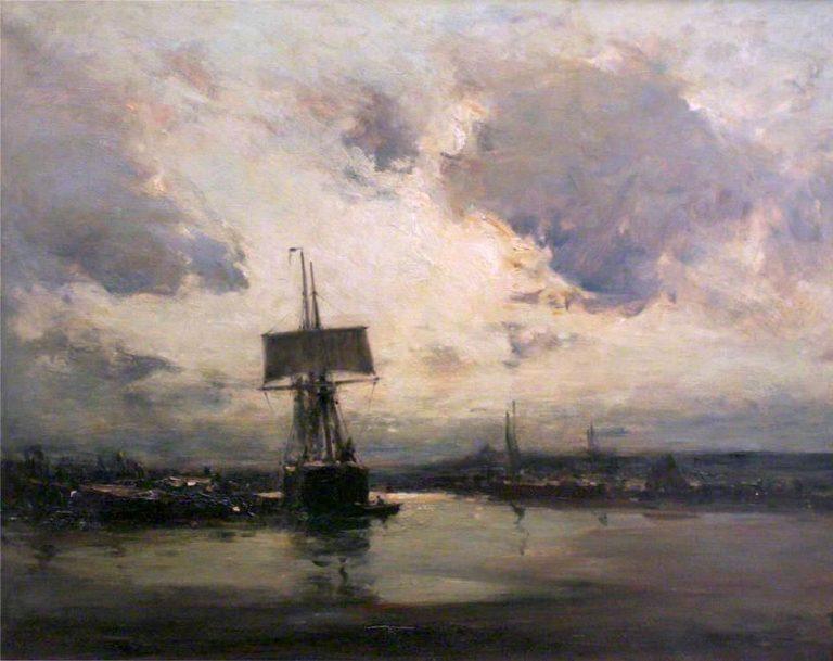 A Tidal River | Edmund Aubrey Hunt | oil painting