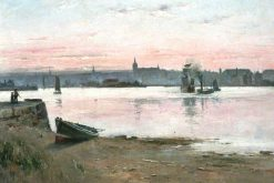 Aberdeen from Torry on the South Side of the Dee | Edmund Aubrey Hunt | oil painting