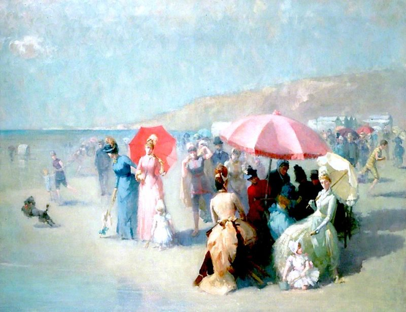 At the Seaside | Edmund Aubrey Hunt | oil painting