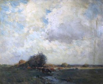 Cattle in a Field | Edmund Aubrey Hunt | oil painting