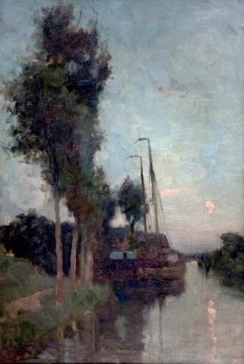 Evening in Holland | Edmund Aubrey Hunt | oil painting