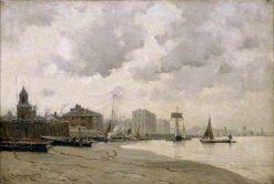 Greenwich Ferry | Edmund Aubrey Hunt | oil painting