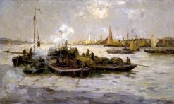 Limehouse Reach | Edmund Aubrey Hunt | oil painting