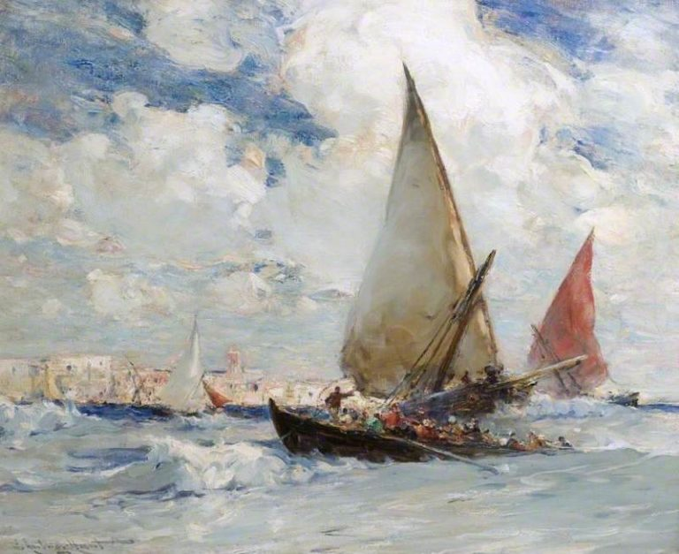Off the Coast of Morocco   Edmund Aubrey Hunt   oil painting