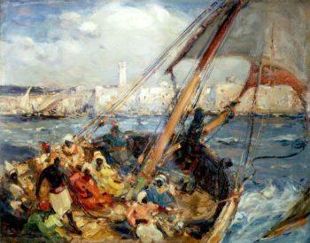 Sallee Rover   Edmund Aubrey Hunt   oil painting