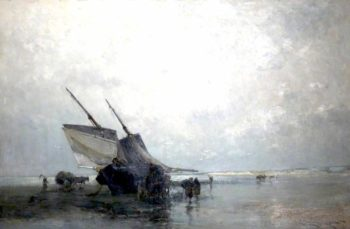 Silver Sky and Shining Sands   Edmund Aubrey Hunt   oil painting