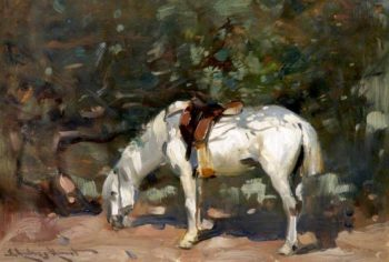 The White Pony | Edmund Aubrey Hunt | oil painting
