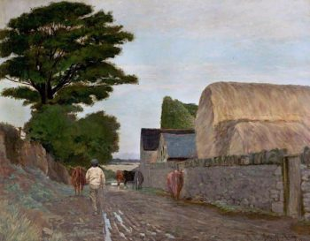 Driving up to Milk | Arthur Hawksley | oil painting