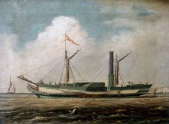 Cross Channel Steamer Belfast off Brighton | Richard Henry Nibbs | oil painting