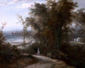 Torre Abbey from Sheddon Hill   John Rawson Walker   oil painting