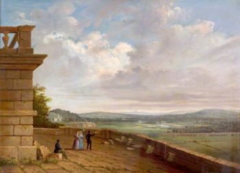 View from the Nottingham Castle Terrace Looking East   John Rawson Walker   oil painting