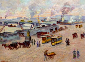 The Quays of the Seine in Rouen | Armand Guillaumin | oil painting