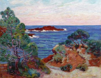 The Red Rock at Agay | Armand Guillaumin | oil painting
