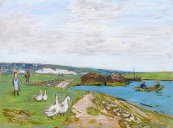 Geese | Alfred Sisley | oil painting