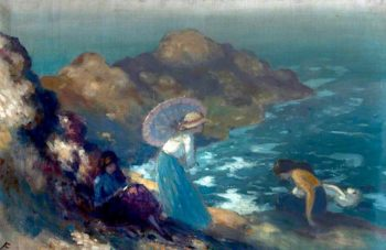 Girls by the Sea | George William (A.E. Russell | oil painting