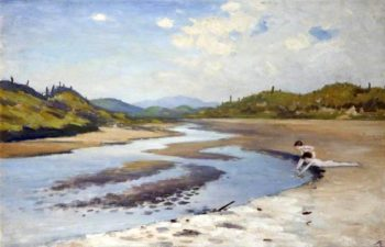 River in the Sand | George William (A.E. Russell | oil painting