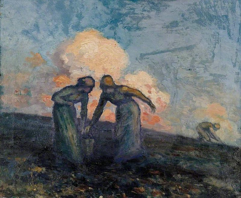 The Potato Gatherers | George William (A.E. Russell | oil painting
