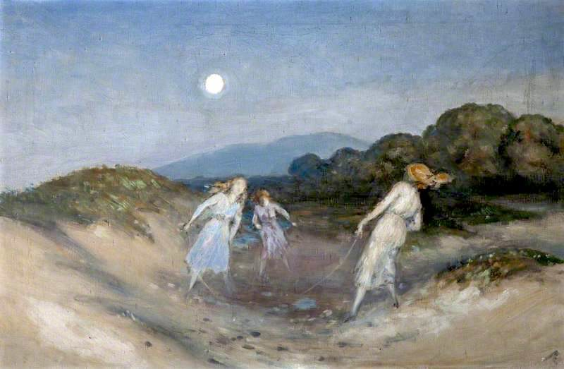The Skipping Rope | George William (A.E. Russell | oil painting
