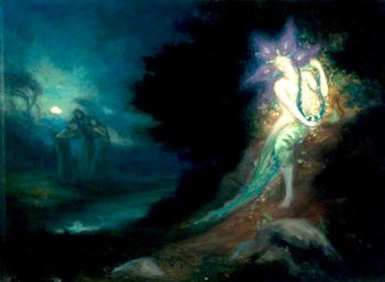 The Spirit of the Pool | George William (A.E. Russell | oil painting